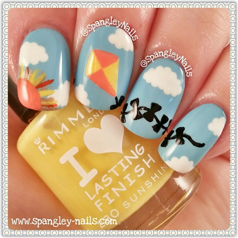 Sunshine Kite Nail Art nail art by Nicole Louise - Nailpolis: Museum ...