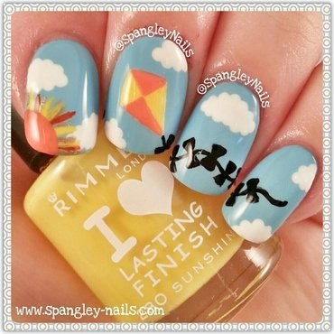 Sunshine Kite Nail Art nail art by Nicole Louise