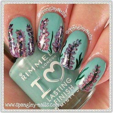 Delphinium Nail Art nail art by Nicole Louise