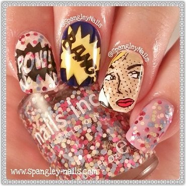 Pop Art Nail Art nail art by Nicole Louise
