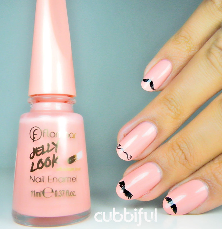 Moustaches for Everyone! nail art by Cubbiful