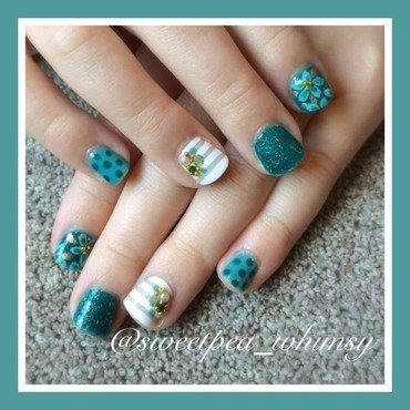 A Feel for Teal Kids (Nails) nail art by SweetPea_Whimsy