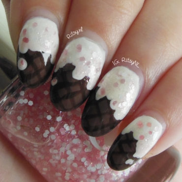 Ice Cream Cone Nails nail art by Ritsy NL