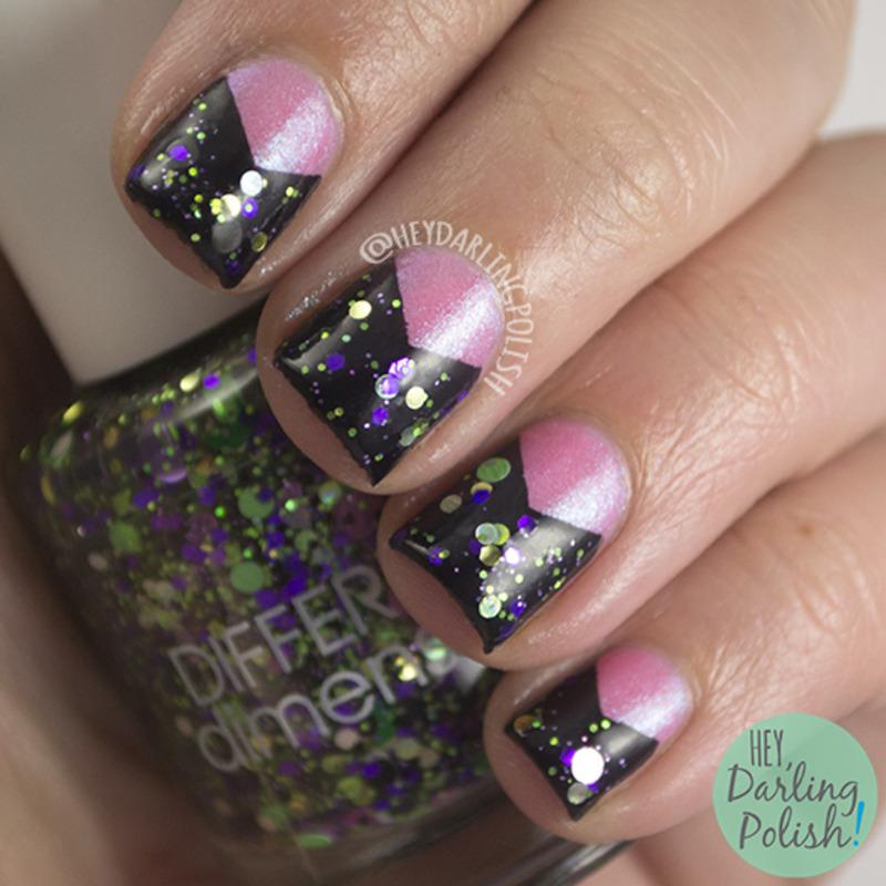Indie Triangles nail art by Marisa  Cavanaugh