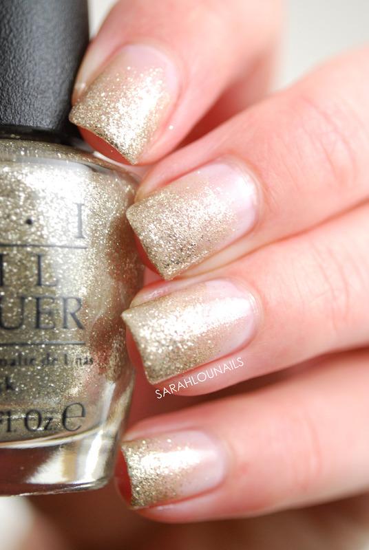 Silver Glitter Gradient Nails nail art by Sarah S
