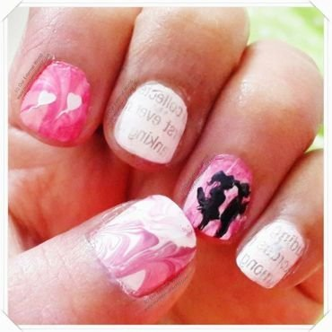 Love nails watermarble newspaperprint thumb370f