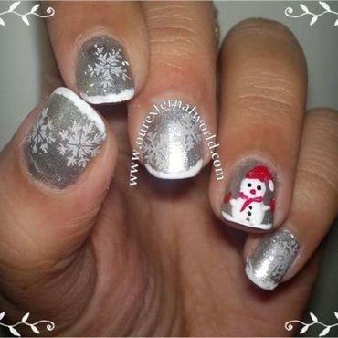 Snowflakes snowman nailart thumb370f