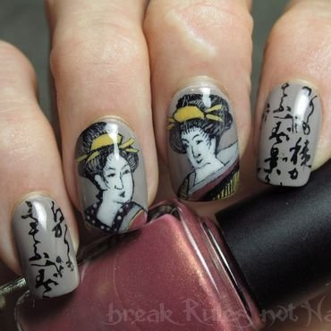 Geisha girls nail art by Michelle