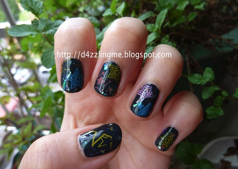 Starry Starry Nails nail art by D4zzling Me