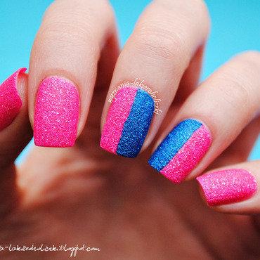 Sandy duet nail art by Olaa