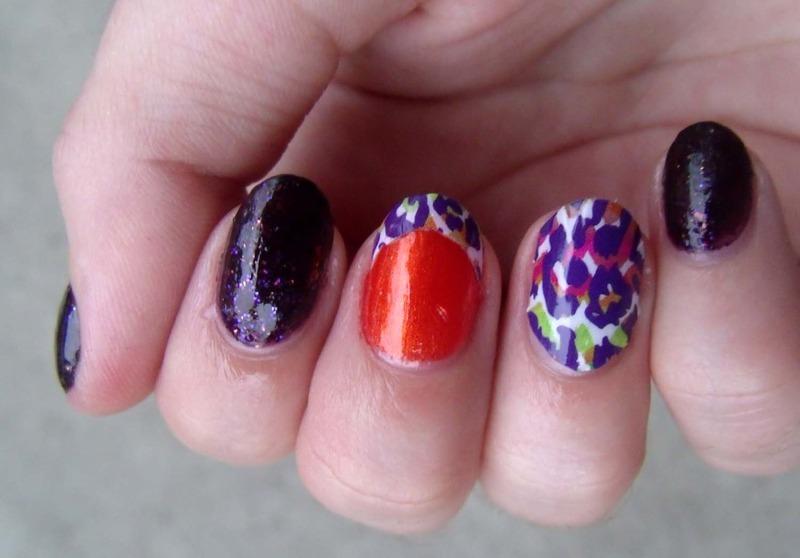 Funky Cheetah Jamicure II nail art by Toria Mason