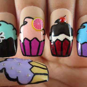 Simply Scrumptious! nail art by Pixel's Polish