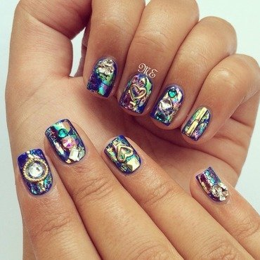 The Crown Jewels nail art by Miriam