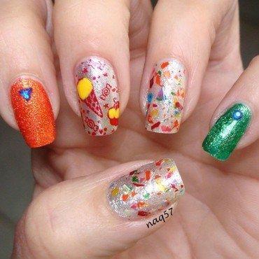Ice Cream Fiesta nail art by Nora (naq57)