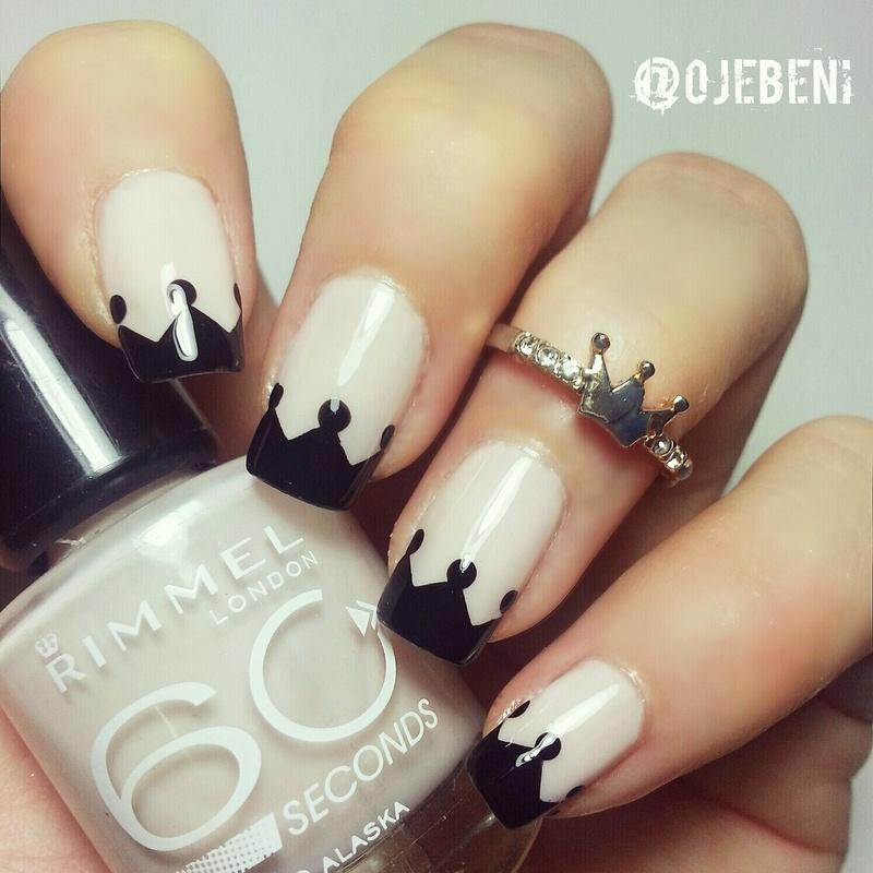 Crown Tips nail art by ojebeni