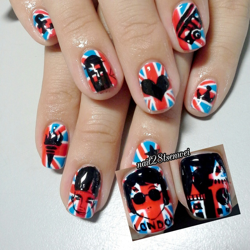 London style nail art by Weiwei - Nailpolis: Museum of Nail Art