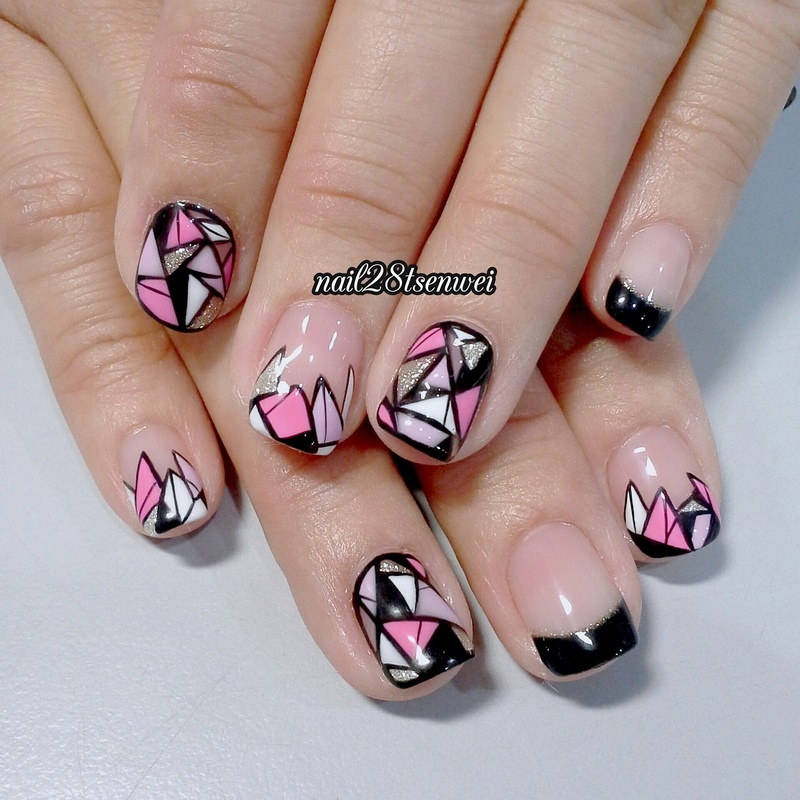 diamond nail art by Weiwei