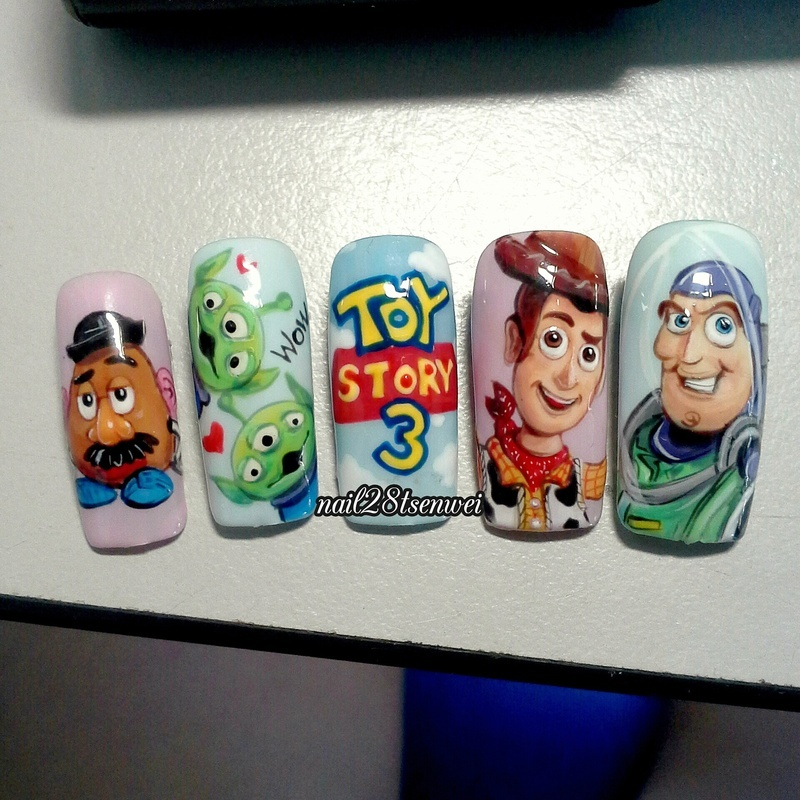 TOY story nail art by Weiwei