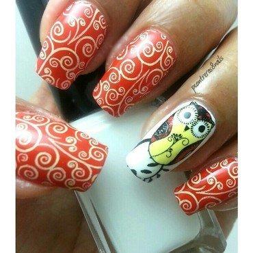 Owl Nails nail art by pcontreras8nails