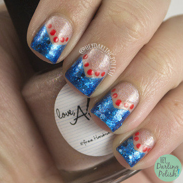 Beach-y Negative nail art by Marisa  Cavanaugh
