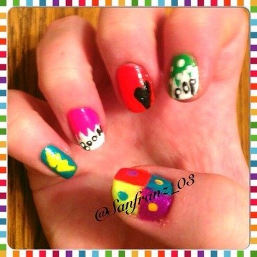 Pop art nails! nail art by Sandy