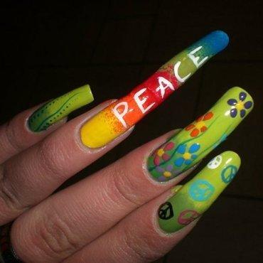 Peace nail art nail art by Giulia Cecchini