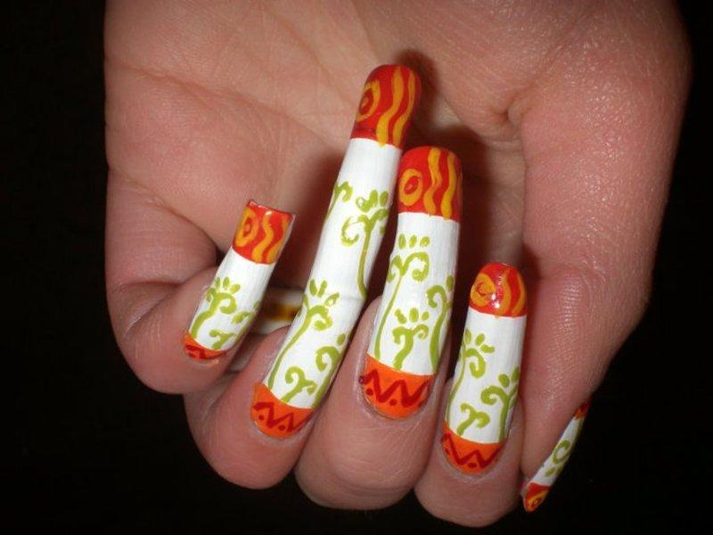Mexican nail art nail art by Giulia Cecchini