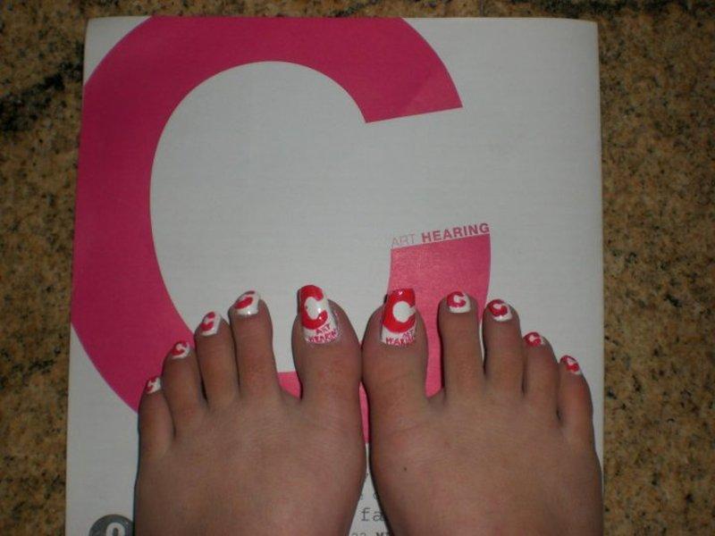 C (contemporary exhibition) nail art nail art by Giulia Cecchini