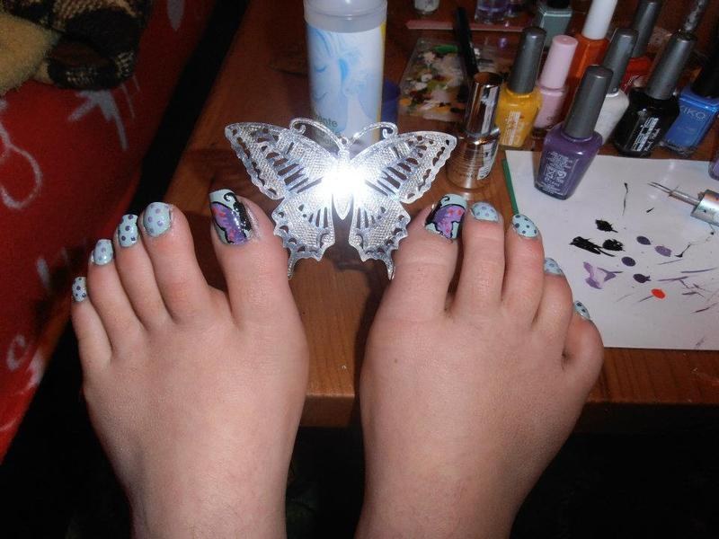 Butterfly nail art nail art by Giulia Cecchini