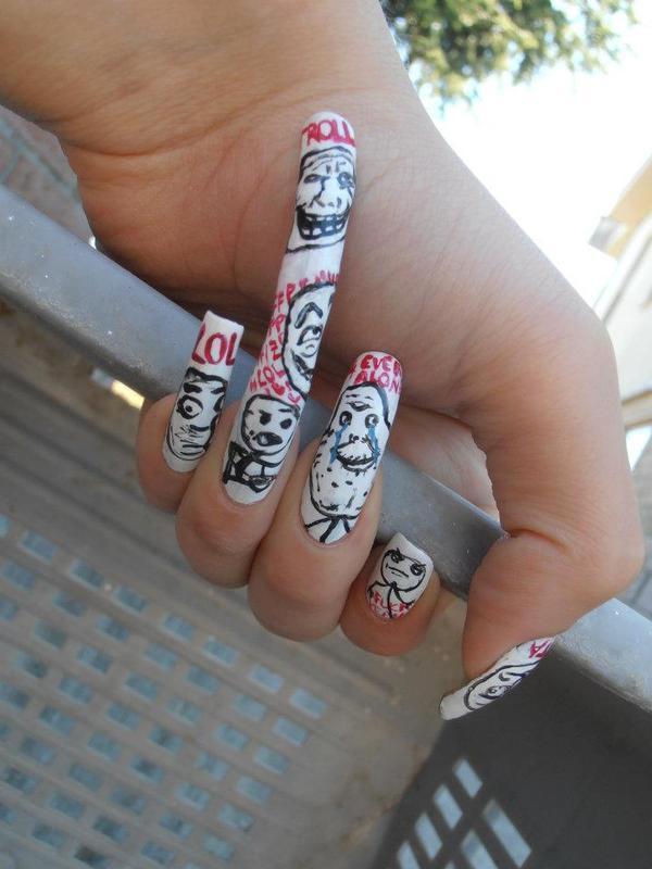 Meme Nail Art Nail Art By Giulia Cecchini Nailpolis Museum Of
