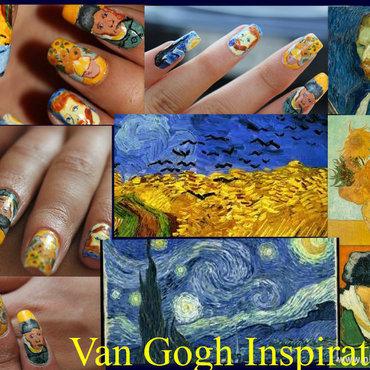 Van Gogh nail art nail art by Giulia Cecchini