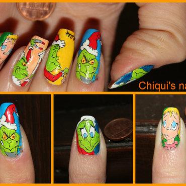 Grinch nail art nail art by Giulia Cecchini