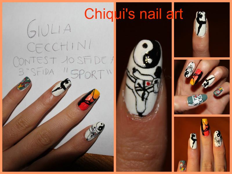 Sports nail art nail art by Giulia Cecchini