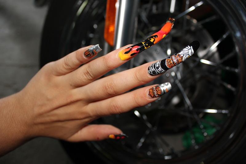 Harley Davidson (HD) nail art nail art by Giulia Cecchini - Harley Davidson (HD) Nail Art Nail Art By Giulia Cecchini