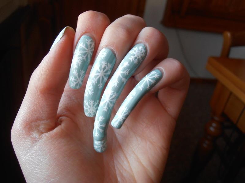 Snowflakes nail art nail art by Giulia Cecchini