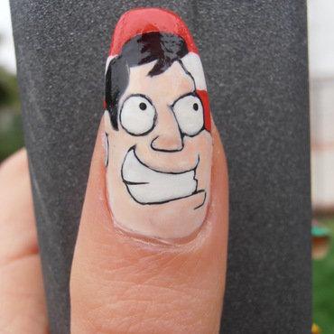 American dad nail art by Giulia Cecchini