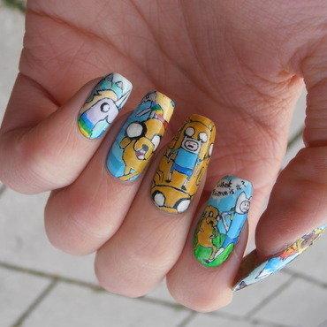 Adventire time  nail art by Giulia Cecchini