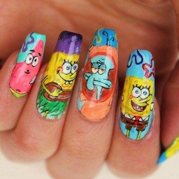 Spongebob nail art by Giulia Cecchini