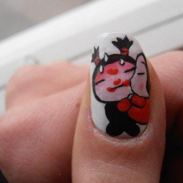 Pucca  nail art by Giulia Cecchini