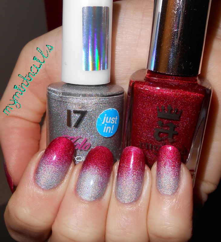 Holo Gradient nail art by MyMintNails