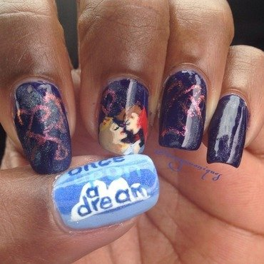 Sleeping Beauty nail art by Tonya Simmons