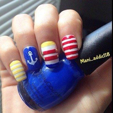 Sail away nail art by S.M.R