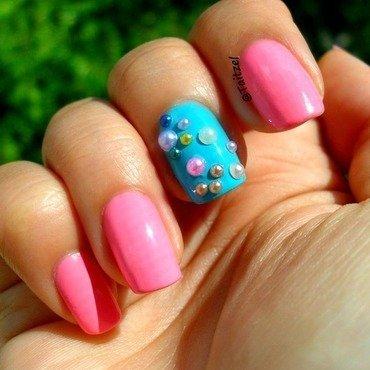 pearl nails nail art by Teo