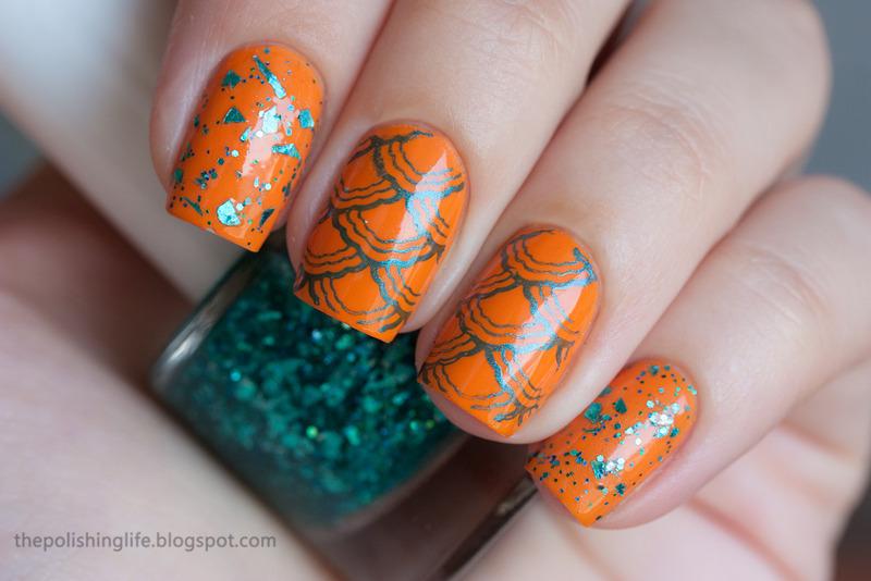 Tropical marine nails nail art by Alena Belozerova