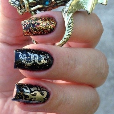 Dracarys  (Game of Thrones-Inspired Mani) nail art by Debbie