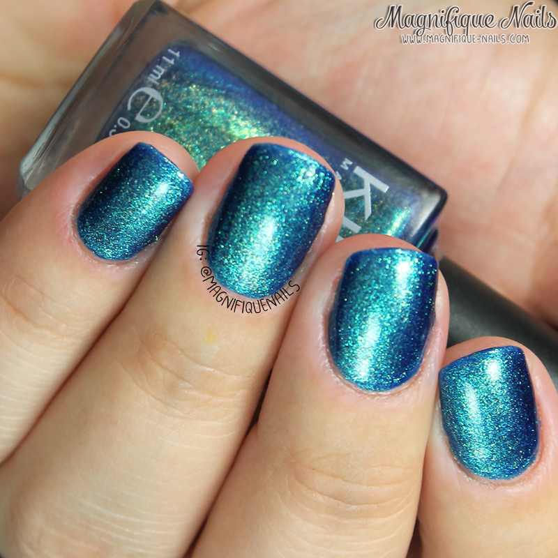 Kiko 530 Pearly Blue Peacock Swatch by Ana