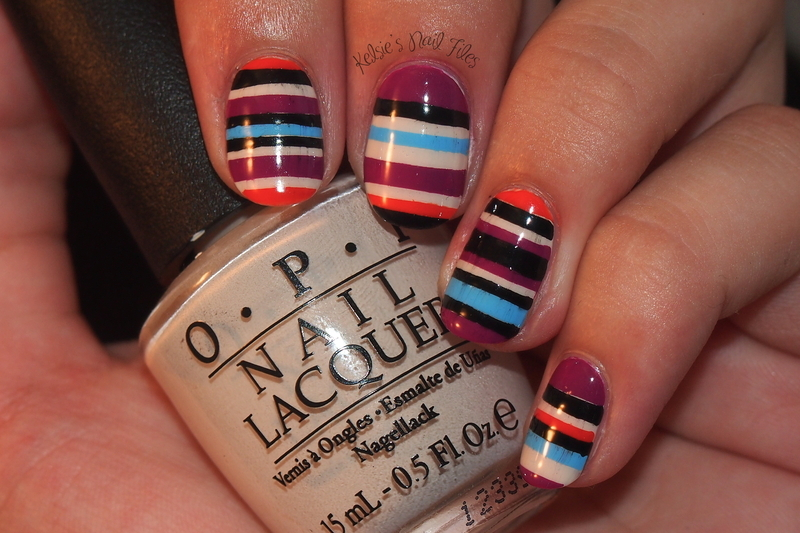 Inspired by ModCloth  nail art by Kelsie