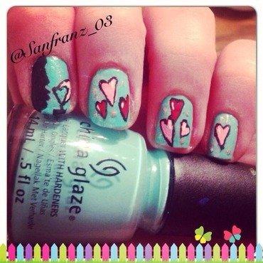 silhouette nail art! nail art by Sandy