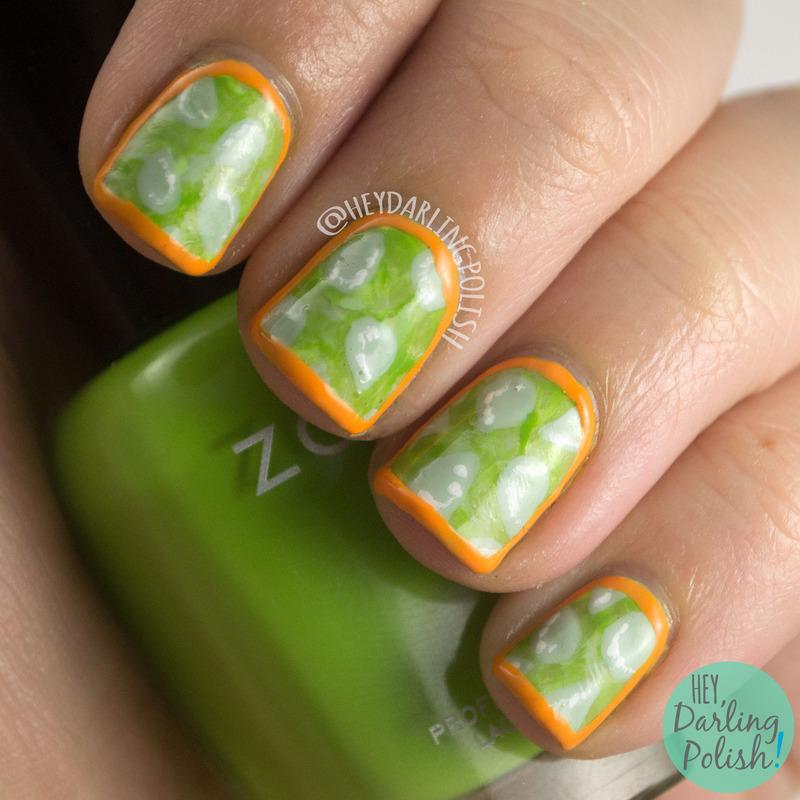 Kiwano Melon nail art by Marisa  Cavanaugh