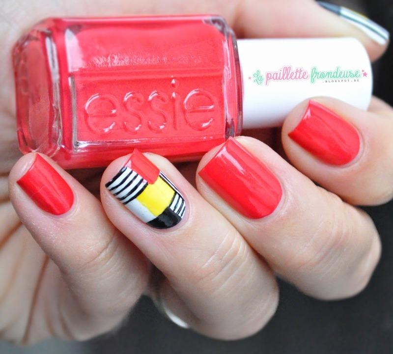 Cubism nail art by nathalie lapaillettefrondeuse